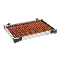 Tray met bruine tuigenplank